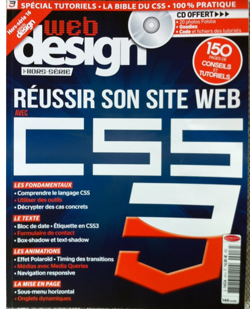 Parution dans le Magazine Web Design